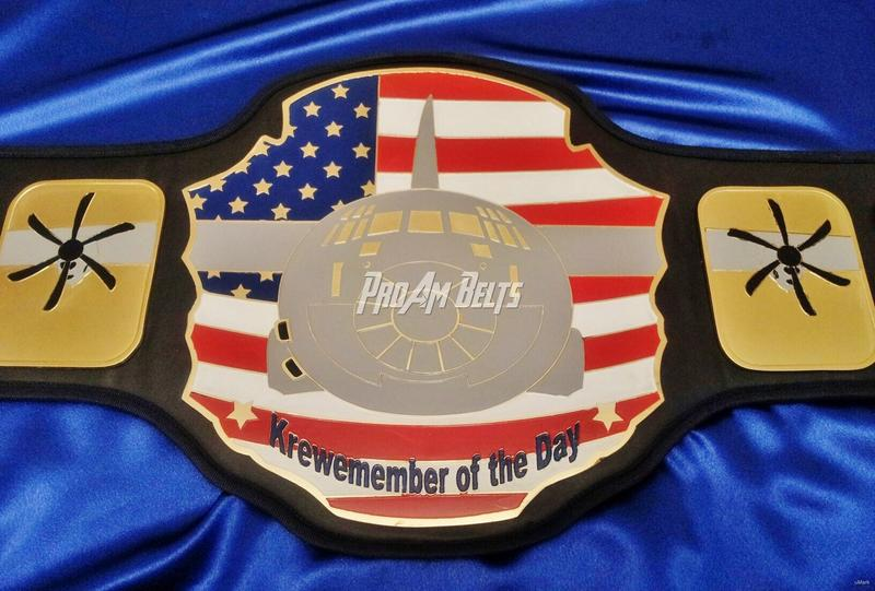 world championship airplane military army title belt award trophy