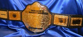 gold Fantasy basketball Championship title belt