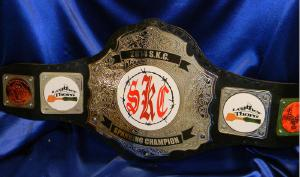 spanking custom championship title belt leather thorn