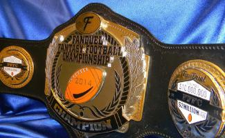 fanduel fantasy draft league custom championship heavy belt award trophy
