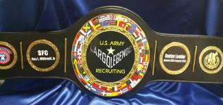 us army recruiting championship belt award trophy