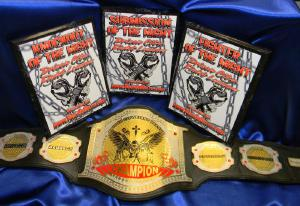 mma championship belt and plaques