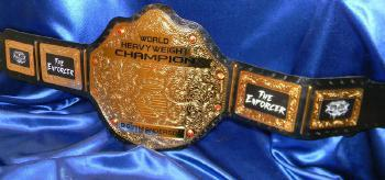 gold fighting spirit custom championship wrestling indy belt
