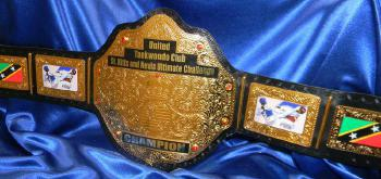 taekwondo martial arts championship custom heavyweight belt