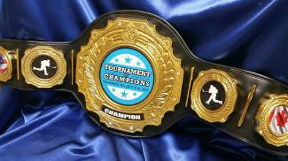 hockey championship title custom belt award trophy