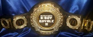 mc donalds championship belt trophy award dance competition