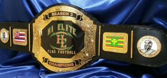 flag football award trophy championship custom title belt