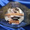 octagon custom fantasy football bang em championship title belt. This is a great design and the our production manager and graphic manager do a superior job at installing the graphics