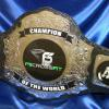 Crossfit championship world title belt award and weight lifting champion by ProAm. This client is proud to give their champ this beautiful belt that has more class than a little trophy!