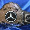 Mercedes custom championship title belt was a huge success within their department