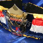 muy thai siam promotions custom championship title belt ProAmBelts layered gold and chrome belt