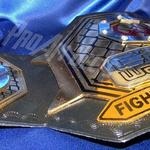 cage warriors championship title belt ProamBelts custom championship title belt stacked heavy layered metal belt embossed tooled strap