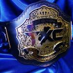 txc custom championship premier gold and chrome layered stacked heavy metal belt embossed tooled strap ProAmBelts mma promotions award