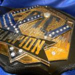 heavyweight custom championship title belt stacked gold and chrome elite wrestling custom belt