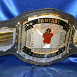 fantasy football custom championship title belt world award stacked name plate heavy belt