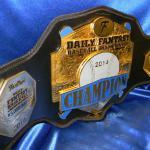 fanduel custom championship premier title belt from proambelts. This fanduel.com fantasy baseball belt was given away in 2014 in Las Vegas with a million dollar check award to the 1st place! how cool is that!