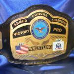 Custom championship armed forces, navy, military, special ops, air force, civil title belt by ProAmBelts