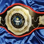 Guinness book of world records championship title belt award ProAmBelts layered heavy metal belt