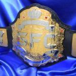 sfc belt was for a customer in Tahiti that started an MMA league and wanted the best quality and lowest prices! ProAmBelts.com custom championship boxing and wrestling belt any perfect for a unique award