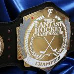 Fanduel fantasy hockey custom championship title belt from www.proambelts.com  This awesome custom championship belt will be award to the FANDUEL.com champion for 2015 hockey fantasy league winner