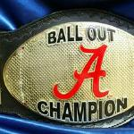 This is 01 of the greatest championship belts we made. We were hired by the Alabama university football team to help motivate the team with this amazing heavyweight stack custom championship football belt specifically design for their focus on winning the NATIONAL CHAMPIONSHIP again!