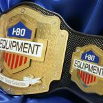 custom championship belt strap with texture for I-80 corporation title award. This heavy duty and stacked layer belt was an amazing build and we built it to have a rugged look!