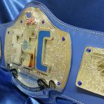 sports series national challenge championship belt we stacked up to be a super heavy belt with a beautiful embossed blue strap! The chrome and blue fit so well together! Custom championship sports series belt award