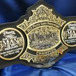 Saloon national championship belt was awarded in vegas in 2015. We made 02 of them and this belt had to fit the company that inquired about us making the belt within a Saloon