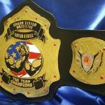 crash test tag team title belt custom premier heavyweight wrestling belts