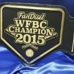 2015 wfbc fanduel fantasy baseball belt award trophy millions of dollars