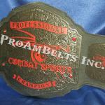 professional trophy belt with dark chrome and red for ProMMA fights