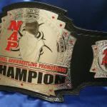 national arm wrestling championship custom title belt award for NAP a 3d stack belt with embossed strap and attitude of the strongest!