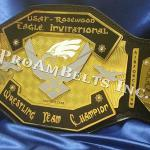 united state air force championship title belt award will be used for many years to come with recruits and officers to award the finest