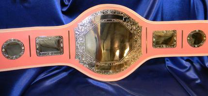 pink custom wrestling boxing belt on sale