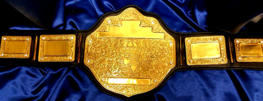 gold custom championship belt