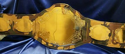 camouflage leather strap championship belt trophy award