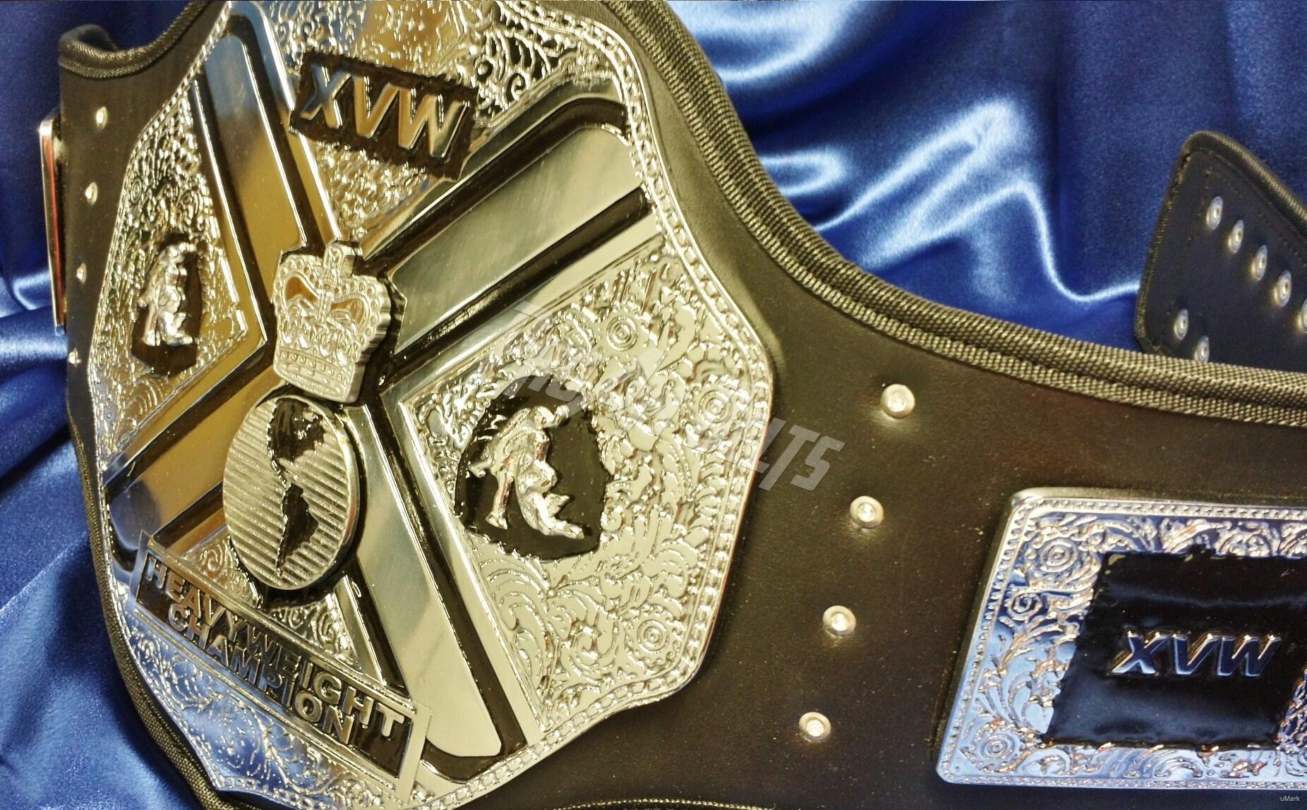 Nwa tag team wrestling champions belt buckle